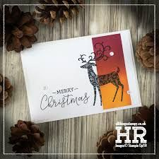 I was inspired by this beautiful card by Dawn Olchefske to make a festive version using the gorgeous Dashing Deer stamp set. Christmas Cards 2018, Stampin Up Christmas, Xmas Cards, Holiday Cards, Animal Cards, Stampin Up Cards, Cardmaking, Merry, Place Card Holders