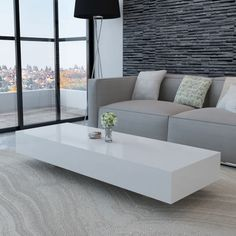 New Coffee Table Modern Furniture Side Table MDF High Gloss White/Black in Home, Furniture & DIY, Furniture, Tables Table Furniture, Living Room Furniture, Modern Furniture, Home Furniture, Living Room Decor, Furniture Design, Office Furniture, Modern Living Room Table, Kincaid Furniture