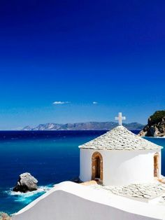 One of the many churches of Skopelos island ~ Greece