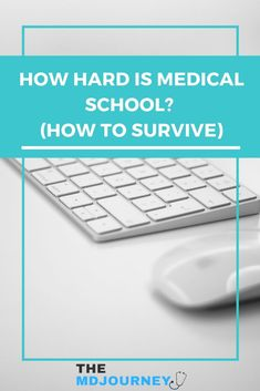 How hard is medical school anyways? How do you survive in medical school? Read this post to learn my answers to common questions about medical school and how to survive and succeed. Med School, School Notes, School Hacks, School Tips, Getting Into Medical School, Study Schedule, Study Techniques, School Motivation, Study Tips