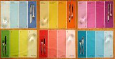 Pantone Placemats! Great idea #http://www.etsy.com/shop/avrilloreti?ref=seller_info