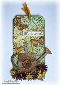Bumblebees and Butterflies: Tim Holtz Watering Can Bigz die