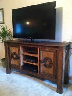 TV STAND / BUFFET by Cowboyreflectionsmer on Etsy, $899.00