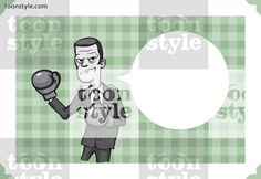 Greeting card with businessman with boxing gloves – personalize your card with a custom text