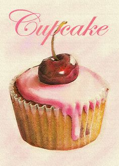 Cherry Cupcake by Jane Schnetlage - Cherry Cupcake Digital Art - Cherry Cupcake Fine Art Prints and Posters for Sale