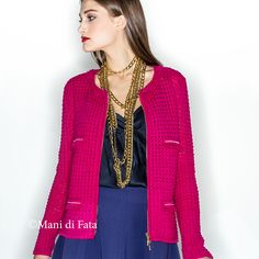 Giacca rosa ciclamino