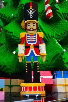 A LEGO Nutcracker soldier