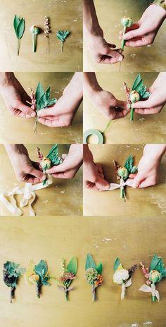 21 ideas for diy wedding flowers boutonniere unique Floral Wedding, Fall Wedding, Wedding Bouquets, Our Wedding, Dream Wedding, Buttonholes Wedding Diy, Wedding Corsages, Prom Corsage, Wedding Blush