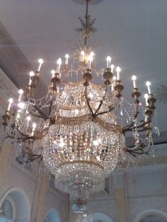 The Chic Technique:  Stunning crystal chandelier!