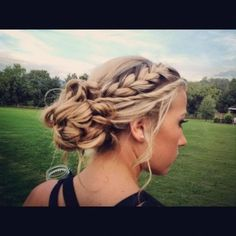 Updo with braid, really want to learn this #updo #hair #braid #hairstyle #women