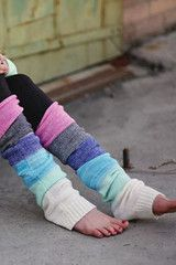 Multi Colored Leg Warmers- perfect for yoga or bar