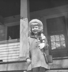 Easter Sunday, 1946, Terry on front steps