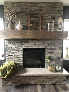Awesome 36 Trendy Fireplace Makeover Design Ideas For Farmhouse Home. # makeover farmhouse 36 Trendy Fireplace Makeover Design Ideas For Farmhouse Home Rustic Fireplaces, Farmhouse Fireplace, Fireplace Remodel, Fireplace Mantle, Living Room With Fireplace, Fireplace Design, Fireplace Ideas, Mantel Ideas, Decor Ideas
