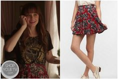 Molly (Alexis Bledel) wears this red floral print skirt in the movie Remember Sunday? It is thePins And Needles Floral Circle Skirt. Buy it HERE for $39