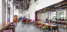AW² complete Vietnamese street life inspired hotel in Ho Chi Minh City Canteen, Ho Chi Minh City, Inspired, Street, Table, Room, Life, Furniture, Home Decor