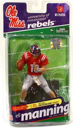 McFarlane Toys NCAA College Football Sports Picks Series 2 Eli Manning Action Figure red jersey