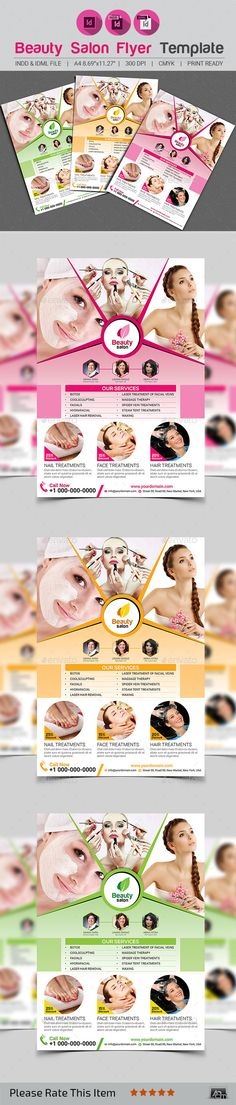 Beauty Care Flyer Templates Beauty care, Flyer template and Template - beauty salon flyer template