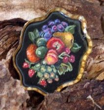 folk art tray miniature $25.00 SOLD