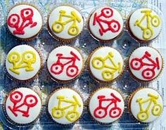 It's about time we had a picture of some cake on this site. Thanks Ruth, who made them for the Southwark Cyclists' stall in the Silver Fest...