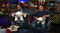Joe Manganiello ripping off a teddy bear's head! (gif)