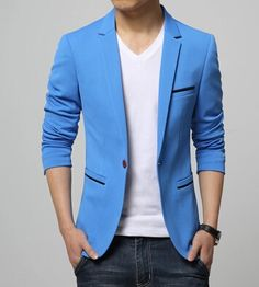 New 2017 fashion slim fit single breasted solid color blazer men casual men's clothing englad style suit jacket men /XF13