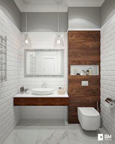 Baños de estilo escandinavo de gm-interior escandinavo in 2020 Bathroom Design Luxury, Bathroom Design Small, Bathroom Layout, Contemporary Bathrooms, Modern Bathroom, Boho Bathroom, White Bathroom, Toilette Design, Small Toilet