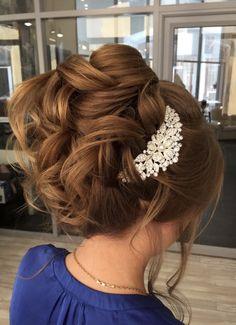 Featured Hairstyle: Elstile; www.elstile.ru; Wedding hairstyles ideas.