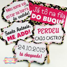 plaquinhas chá de cozinha Wedding Signs, Diy Wedding, Wedding Reception, Dream Wedding, Bridal Shower Decorations, Wedding Decorations, Chuppah, Team Bride, Open House