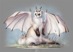 Ferret-dragon by AlsaresLynx