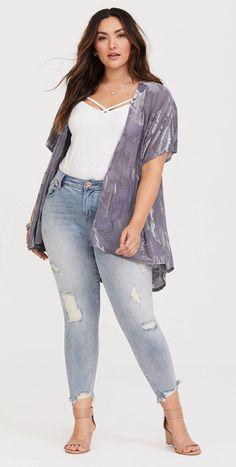 Plus Size Girlfriend Jeans - Plus Size Fashion for Women #plussize