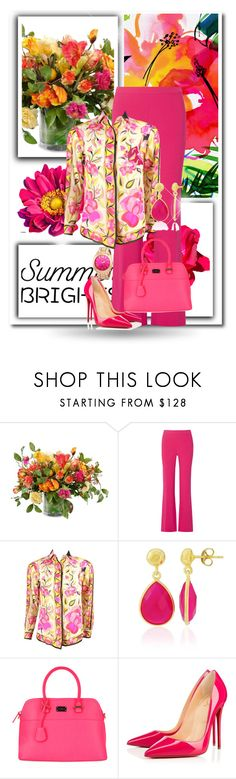 """Summer Brights"" by dezaval ❤ liked on Polyvore featuring New Growth Designs, Diane Von Furstenberg, Emilio Pucci, Christian Louboutin and summerbrights"