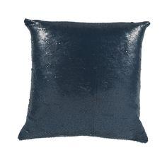 Mermaid Navy/White 17X17 KE Fiber Throw Pillow
