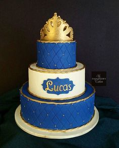 Custom Wedding Cake Designs in New Jersey Wedding Cake Designs, Wedding Cakes, Baptism Party, Baptism Ideas, Cakes For Boys, Boy Cakes, Prince Cake, Baby Boy First Birthday, Baking Business