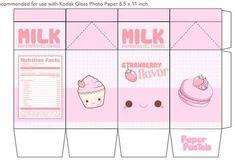 9 Best Images of Milk Kawaii Printable Papercraft - Kawaii Milk Carton Template, Cute Kawaii Milk Papercraft and Kawaii Milk Papercraft Printable Kawaii Crafts, Kawaii Diy, Diy Gift Box, Diy Gifts, Instruções Origami, Diy And Crafts, Crafts For Kids, Papier Diy, Printable Box
