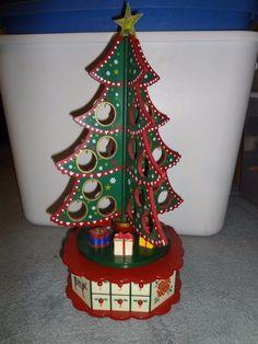 Mr Christmas MUSICAL TREE ADVENT CALENDAR 25 Songs Spins Lights Up All Works #MrChristmas, ebay $49.99
