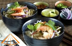 The most specific dish for Vietnam Pho Recipes is Seafood Pho, which is the traditional food and also be consider as . When talk about Pho, everyone also think about Chicken Pho, and beef Pho, but no one think that Pho can combine with seafood. Vietnamese Cuisine, Vietnamese Recipes, Indian Food Recipes, Asian Recipes, Ethnic Recipes, Shrimp Pho, Fried Shrimp, Seafood Pho Recipe, Yummy Asian Food