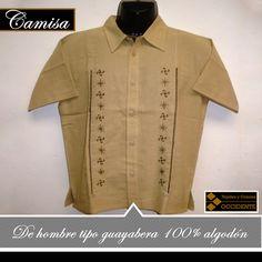 eded3a82ca Camisa de Hombre tipo Guayabera 100% algodón