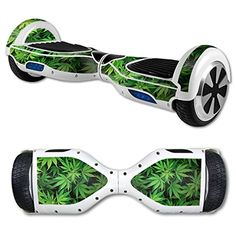 MightySkins Protective Vinyl Skin Decal for Hover Board Self Balancing Scooter mini 2 wheel x1 razor wrap cover sticker Weed *** You can get additional details at the image link.