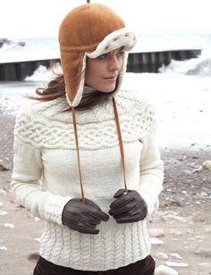 Winter Wonder Cabled Yoke Sweater