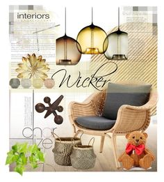 """Wicker"" by sisilem ❤ liked on Polyvore featuring interior, interiors, interior design, home, home decor, interior decorating, Arteriors, Sika, Tom Dixon and Murmur"