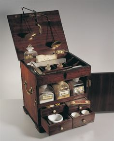 Close-up of a cabinet with chemical bottles, England Apothecary Cabinet, Collections Of Objects, Cabinet Of Curiosities, Potion Bottle, 19th Century, Decoration, Diy And Crafts, Storage, Antiques