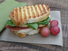 Turkey, Bacon, Apple, and Brie Panini
