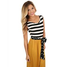 Stripes & Smiles Maxi in Mustard | Impressions Online Women's Clothing Boutique #shopimpressions