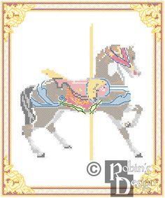 New to robinsdesign on Etsy: Carousel Horse Cross Stitch Pattern Dentzel Glen Echo Park MD PDF (5.00 USD)