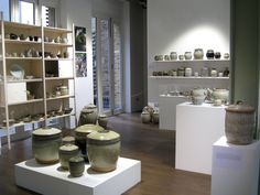 Pots from Batterham's personal archive on display at CAA