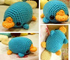 Love this amigurumi platypus
