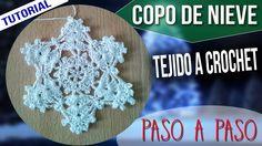 Especial Navidad - Adorno Navideño Tejido a Crochet - Copo de Nieve