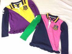 Set of 2 Ralph Lauren Shirts Sz 5 Blue Pink Green Purple Long Sleeves Polo #2 #RalphLauren #Everyday