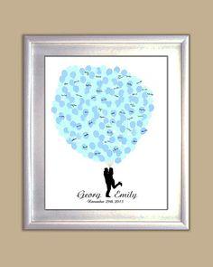 Wedding Guest Book Alternative Bride&Groom by CustombyBernolli