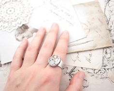 Statement Ring Steampunk Jewelry Watch by KfiatekGiftedHands